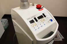 出血抑えるレーザー治療